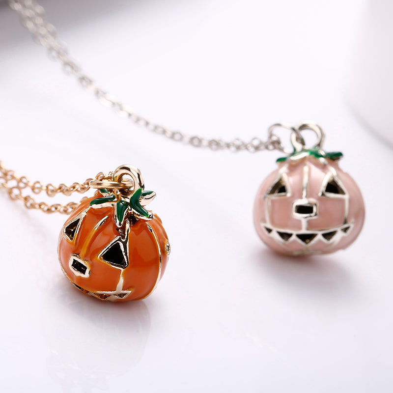 Halloween Pumpkin Lantern Necklace (2 PC)