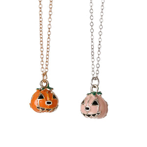 Halloween Pumpkin Lantern Necklace (2 PC) - 30% OFF + FREE SHIPPING