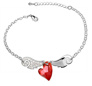 Angel Wing Heart Bracelet - Special Offer - The Creative Booth