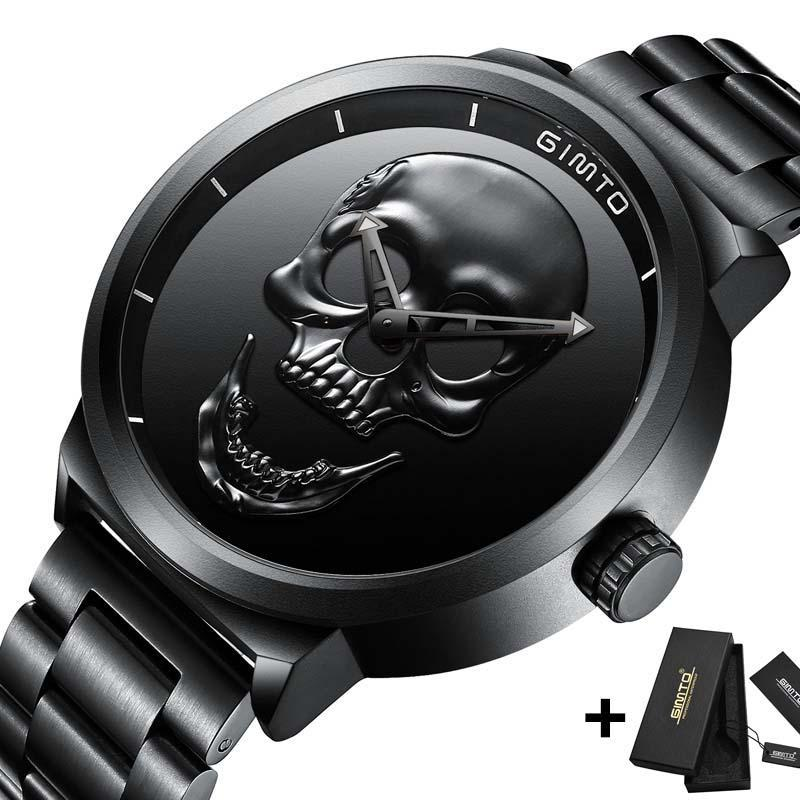 Black 3D Skull Watch - The Creative Booth