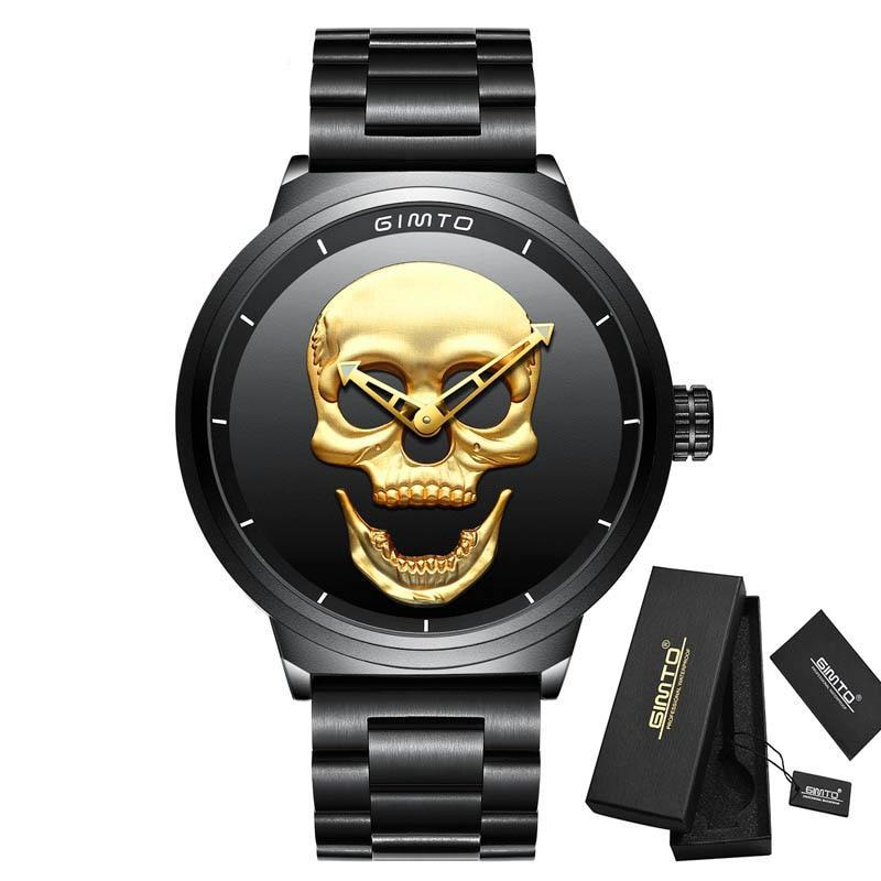 3D Golden Skull Watch - 30% OFF + FREE SHIPPING - The Creative Booth