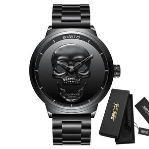 Black 3D Skull Watch - 30% OFF + FREE SHIPPING - The Creative Booth
