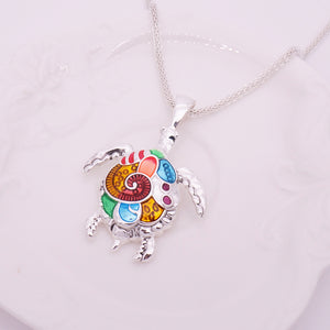Multicolored Turtle Necklace - The Creative Booth