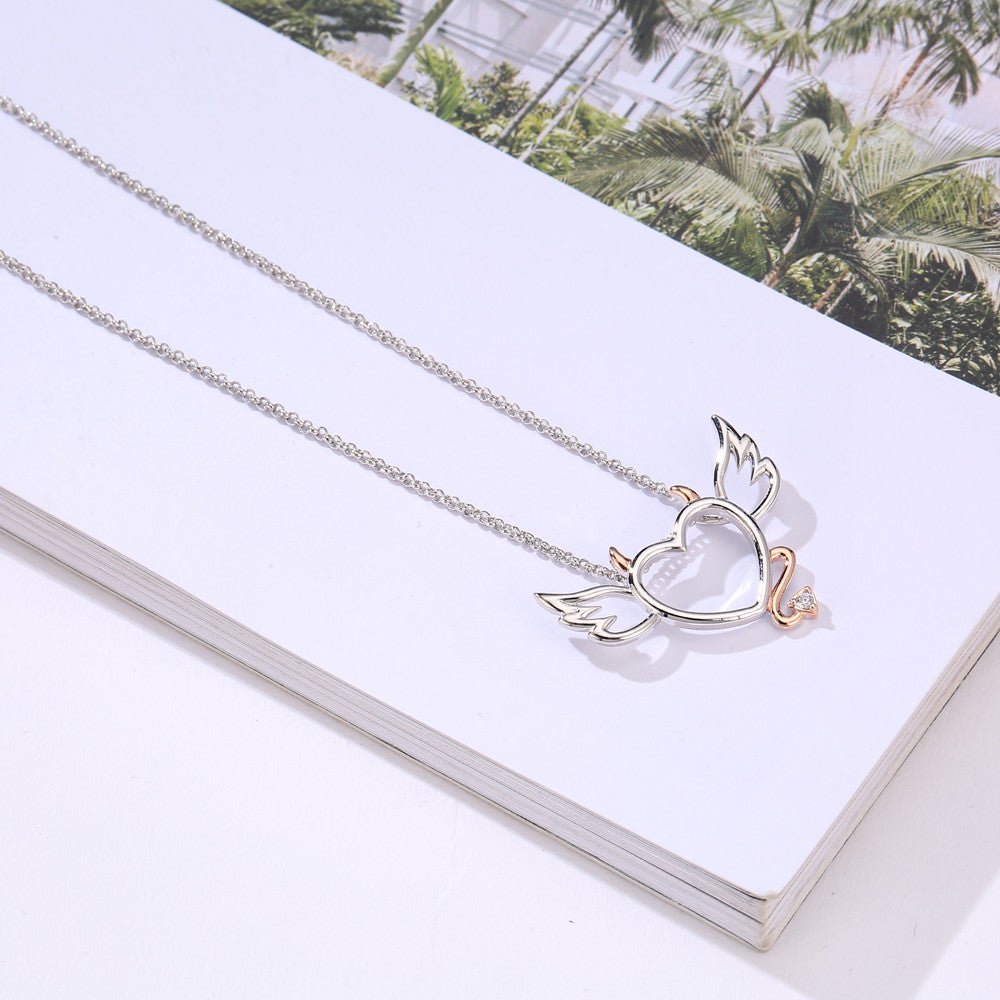 Devil Wings Heart Necklace - 65% Off! - Claim It Now! - The Creative Booth
