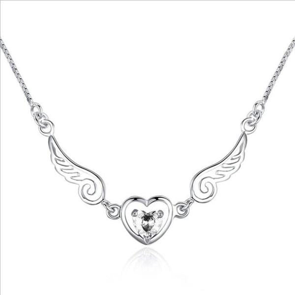 Angel Wings Heart Necklace - The Creative Booth