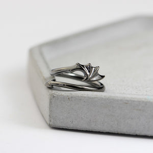 Adjustable Sterling Silver Devil and Angel Ring - 30% OFF + FREE SHIPPING - The Creative Booth