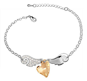 Angel Wing Heart Bracelet - 30% Off! - The Creative Booth