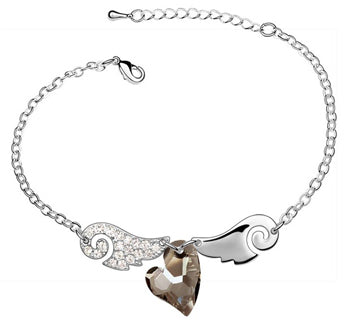 Angel Wing Heart Bracelet - The Creative Booth