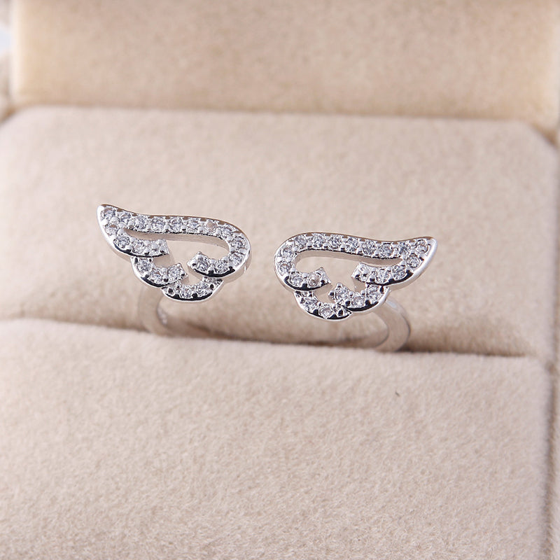 Adjustable Mini Angel Wings Ring - The Creative Booth