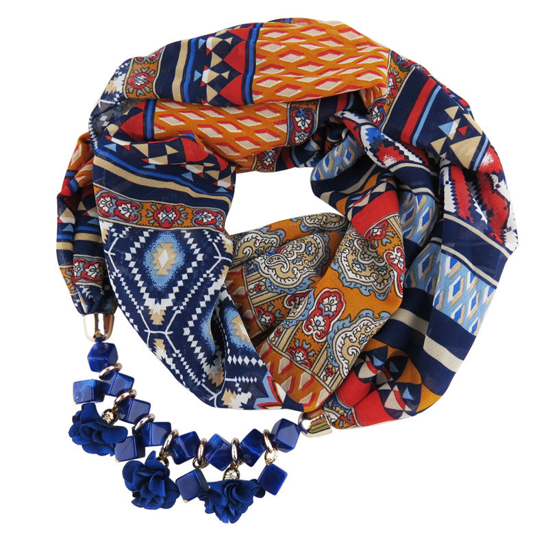 Bohemian Scarf Necklace - The Creative Booth