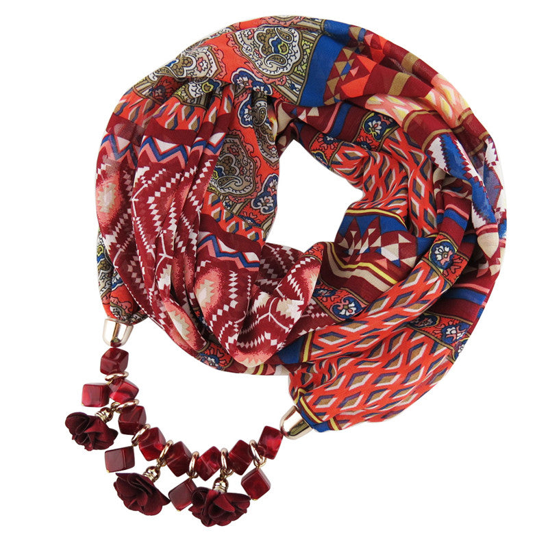 Bohemian Scarf Necklace - 30% Off! - The Creative Booth