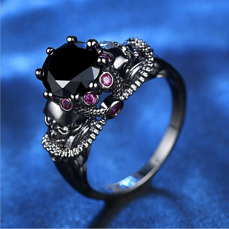 FREE! Colorful Black Skull Ring - The Creative Booth