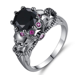 Colorful Black Skull Ring - The Creative Booth