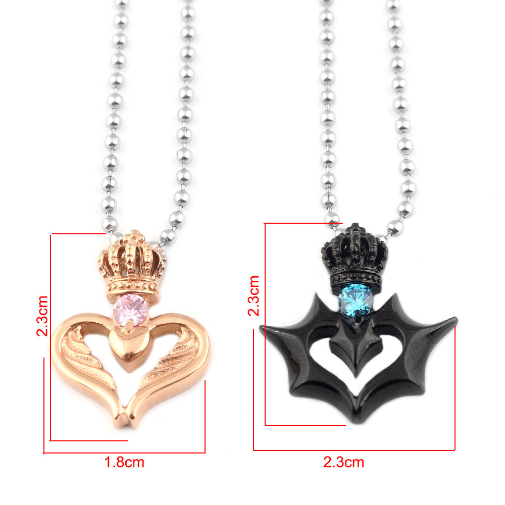 FREE! Angel and Devil Crown Couple Necklace - The Creative Booth