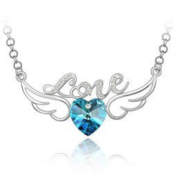 FREE! Crystal Love Angel Wings Necklace - The Creative Booth