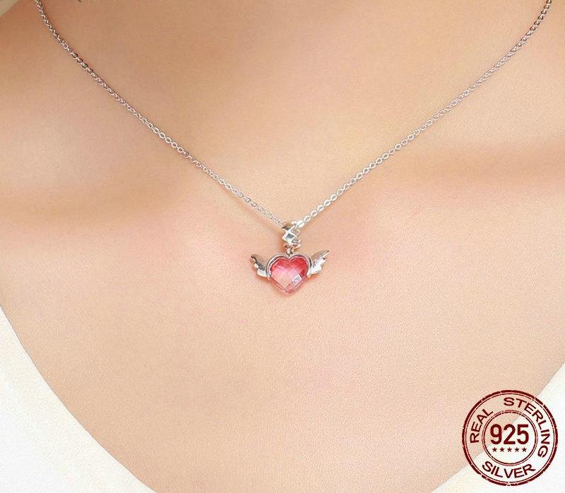 Love Heart Wings Charm Pendant - 50% OFF + FREE SHIPPING