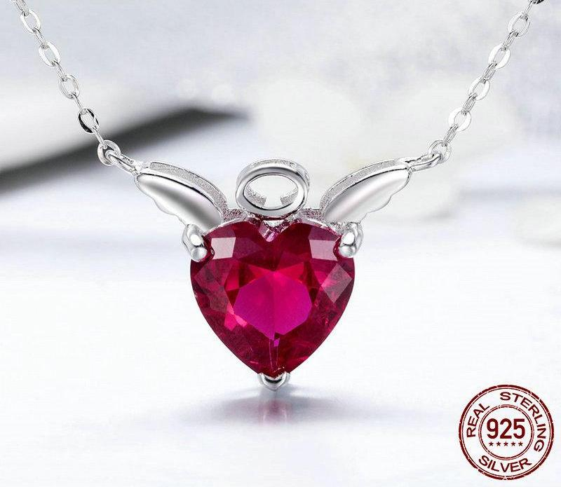 Red Angel Wings Necklace - 40% OFF + Free Shipping