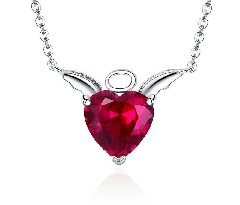 Red Angel Wings Necklace