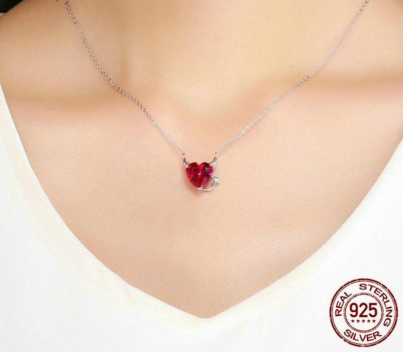 Evil Red Heart Necklace - 55% OFF! - The Creative Booth