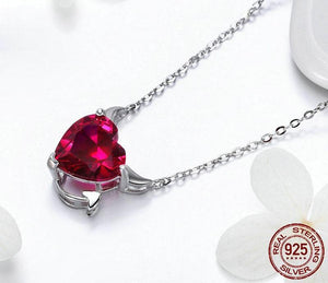 Red Devil Wings Necklace