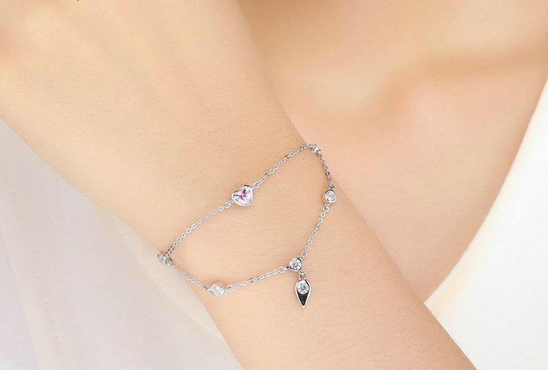 Pink Sweet Heart Double Layer Bracelet - 50% OFF + FREE SHIPPING