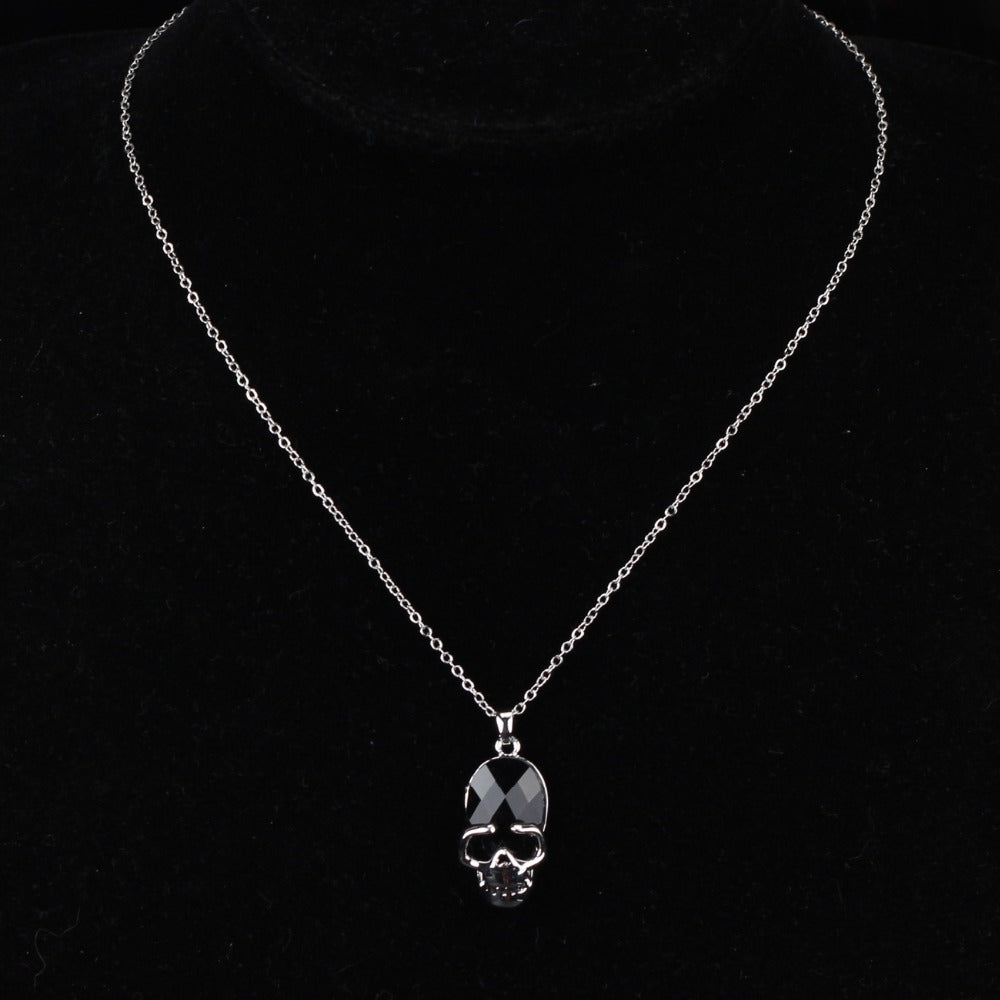 Crystal Opal Skull Necklace - The Creative Booth