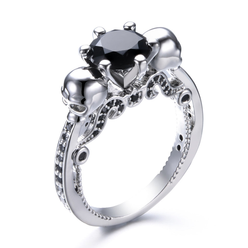 European Gothic Two-Faced Skull Stylish Ring - 55% OFF - The Creative Booth