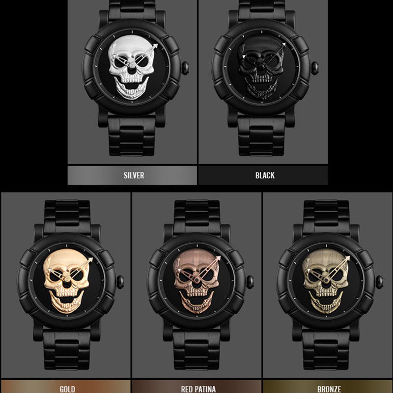 Steel Sports Pirate Skull Watch - 50% OFF + FREE SHIPPING
