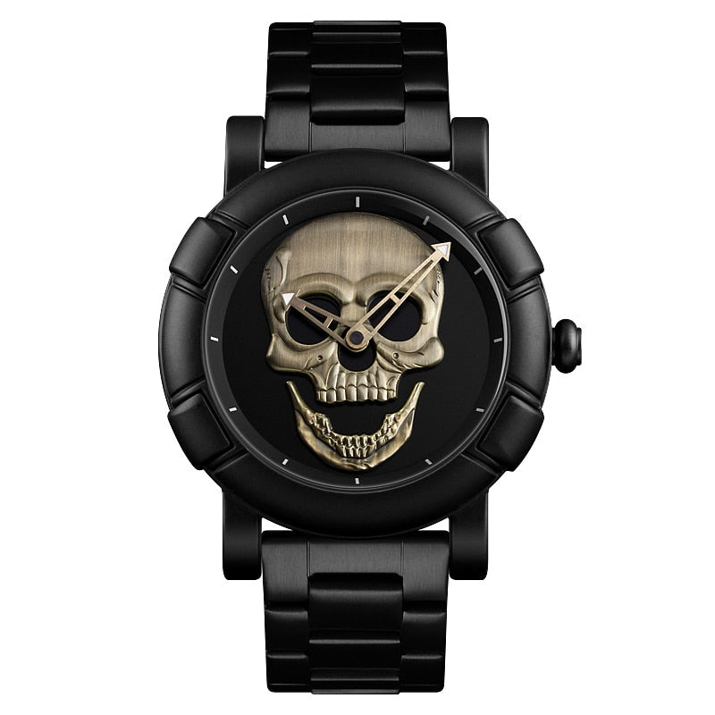 Steel Sports Pirate Skull Watch