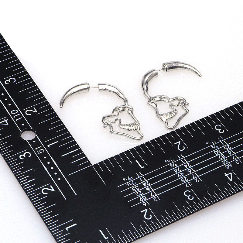 Hollow Skeleton Stud Earrings - 50% Off + FREE Shipping