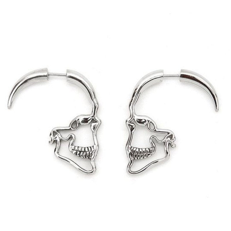 Hollow Skeleton Stud Earrings - 30% Off + FREE Shipping