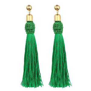 Handmade Long Tassle Earrings - The Creative Booth
