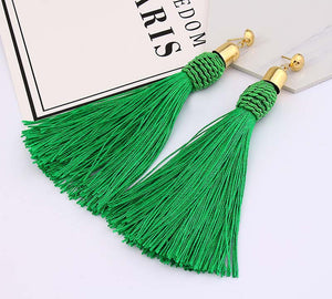 Handmade Long Tassle Earrings - 30% Off! - The Creative Booth