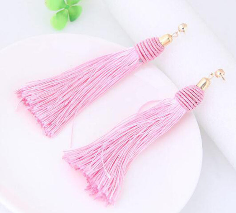 FREE! Handmade Long Tassle Earrings - The Creative Booth