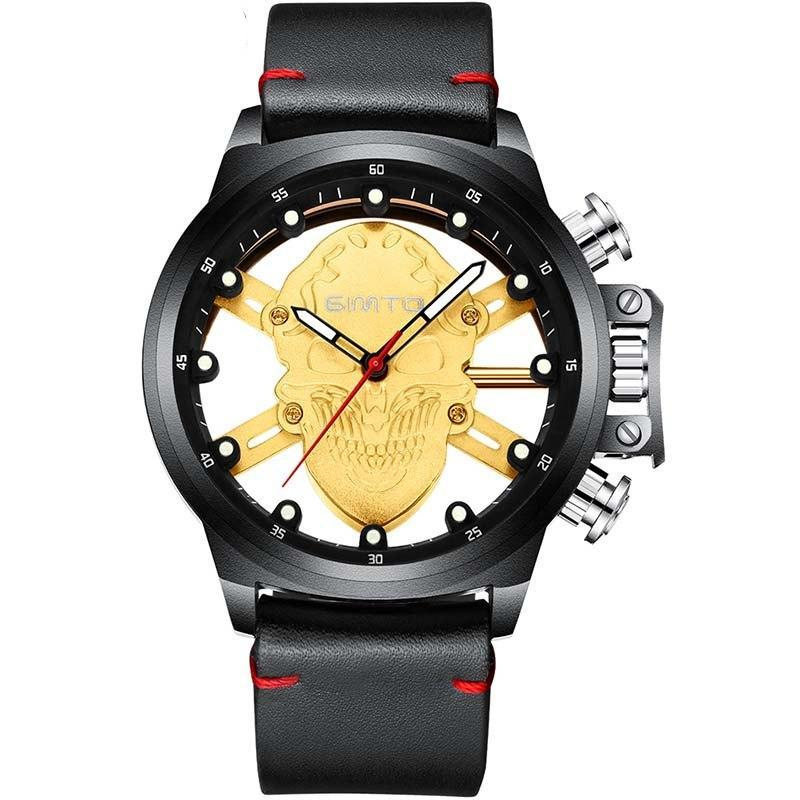 Cool Punk Skeleton Skull Black Watch - The Creative Booth