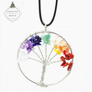 Chakra Tree Of Life Pendant - Special Deal 40% Off - The Creative Booth