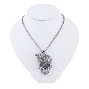 Crystal Rhinestone Skull Necklace - 30% OFF + FREE SHIPPING - The Creative Booth