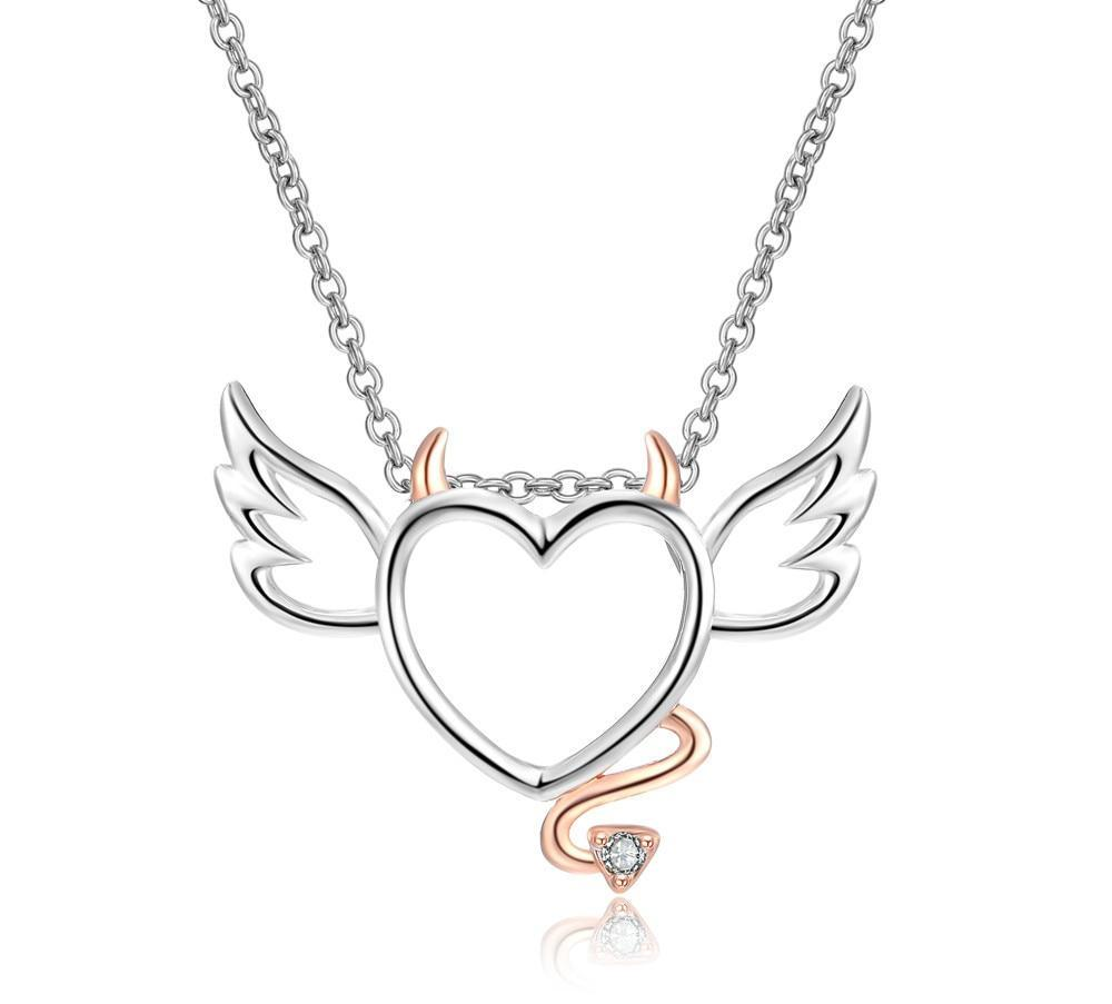 Devil Wings Heart Necklace Bundle - Get 3 at 65% Off + FREE Shipping! - The Creative Booth