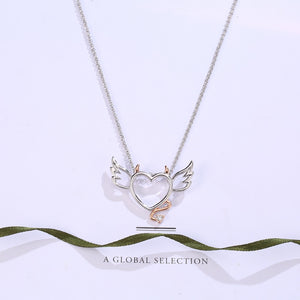 Devil Wings Heart Necklace - The Creative Booth
