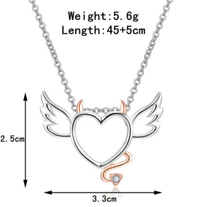 Devil Wings Heart Necklace - Special Offer - The Creative Booth