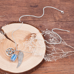 FREE! Angel Wing Wishing Bottle Necklace - The Creative Booth