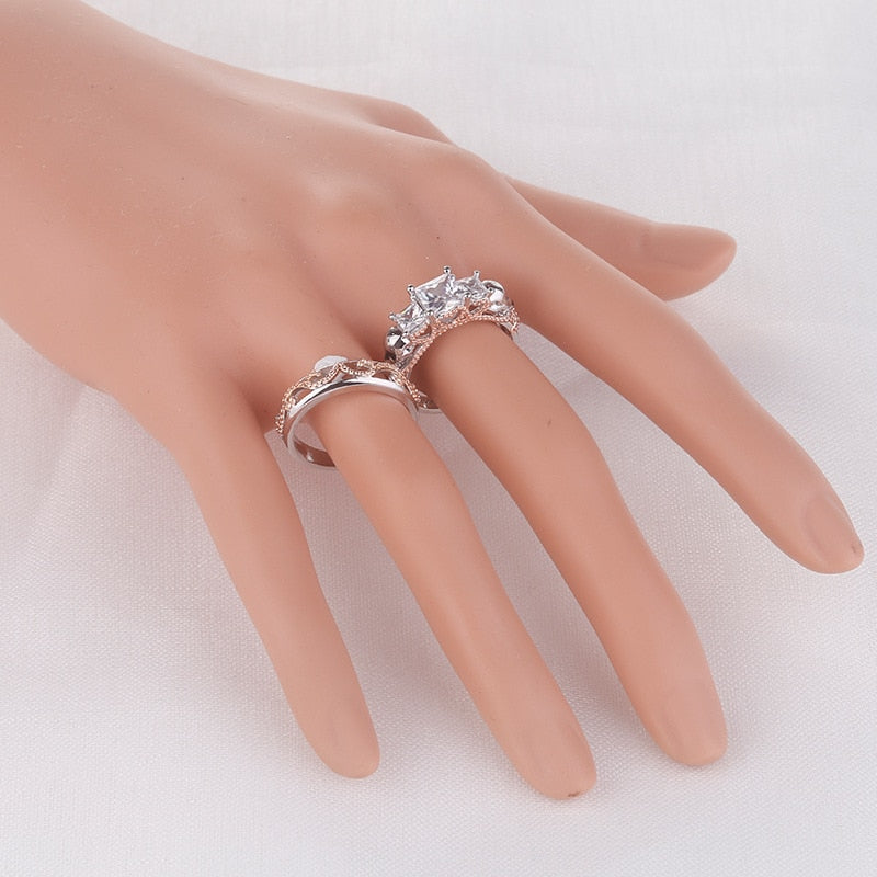 Elegant Crystal Skull Double Ring - 50% OFF + Free Shipping - The Creative Booth