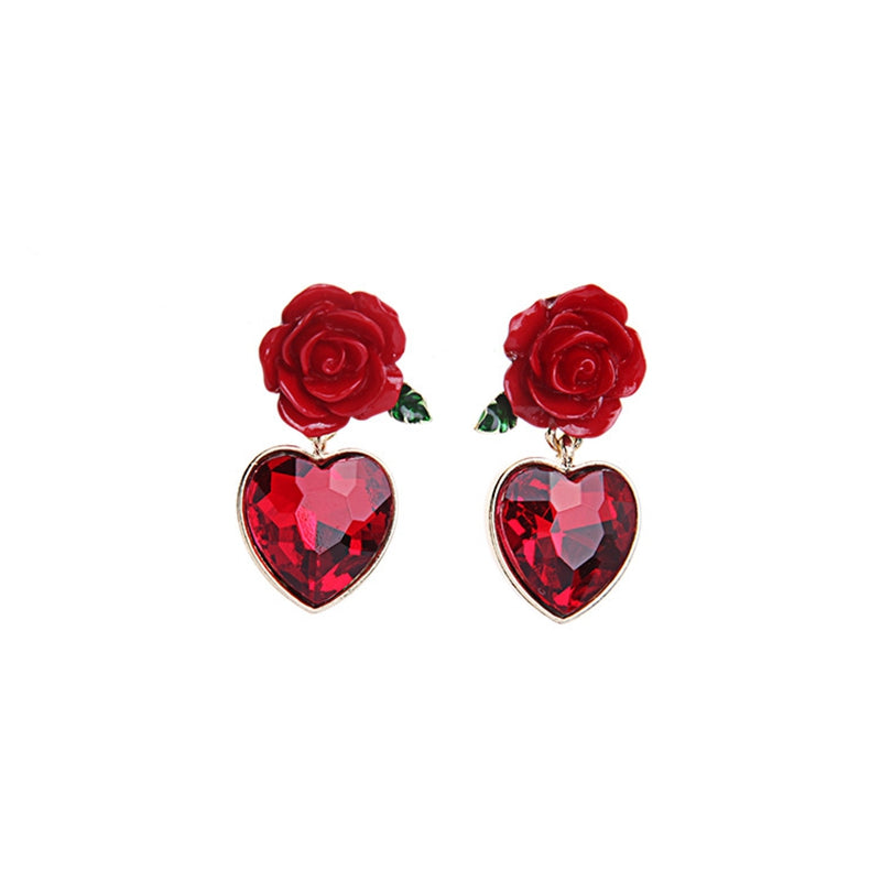 Lovely Hearts and Roses Earrings Bundle - Get 3 at 65% OFF + Free Shipping!