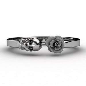 Inlaid Skull Rose Ring - 65% - The Creative Booth