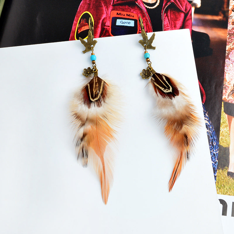 Ethnic Feather Bohemian Earrings - 65% Off - The Creative Booth