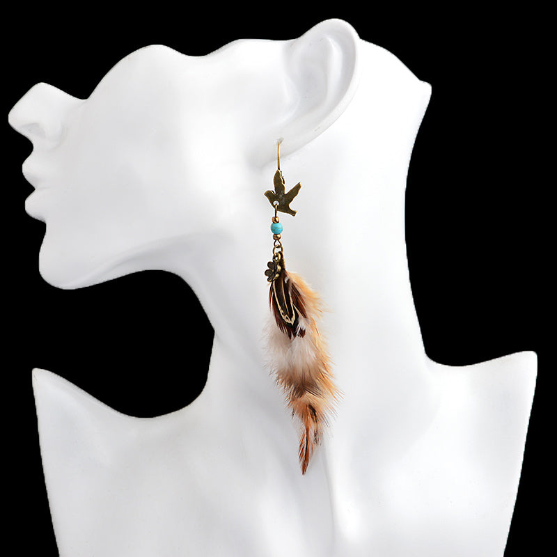 Ethnic Feather Bohemian Earrings - 35% Off - The Creative Booth