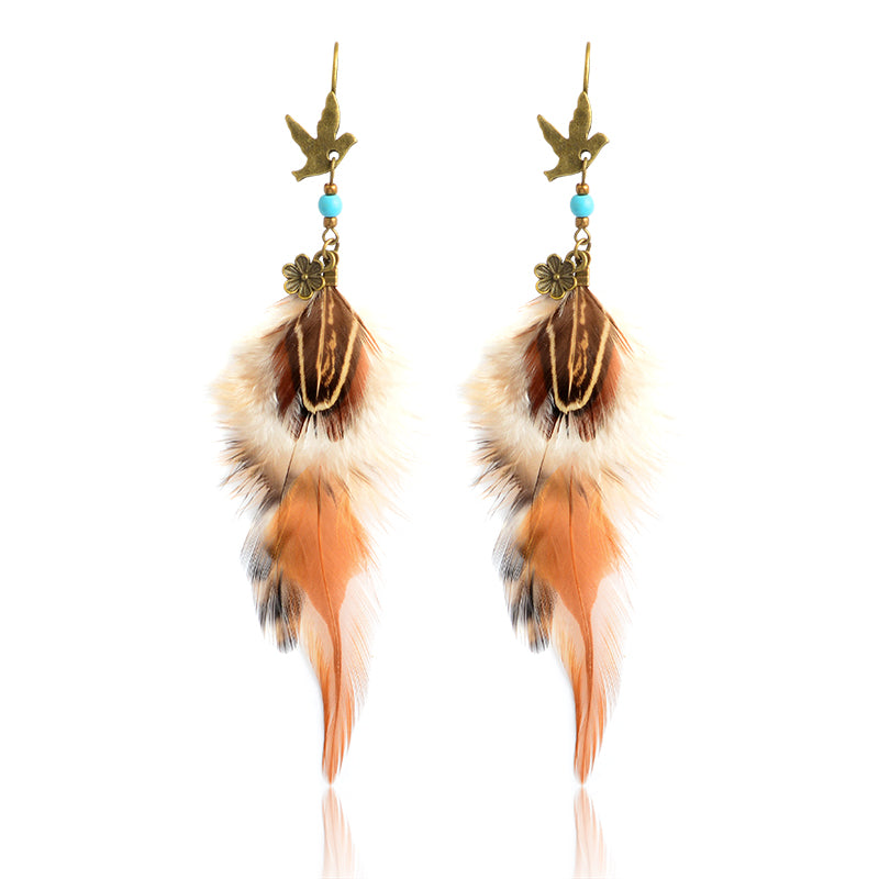 Ethnic Feather Bohemian Earrings - The Creative Booth