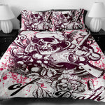 3D Printed Skull Bedding Set with Pillowcase - The Creative Booth
