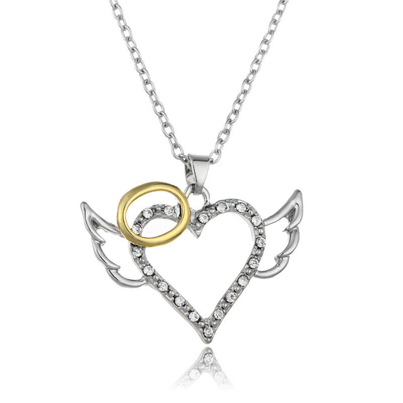 Angel Wings Heart Necklace - 30% Off + FREE Shipping! - The Creative Booth