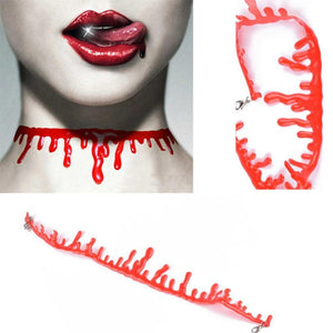 Blood Drip Choker Chain Necklace - The Creative Booth